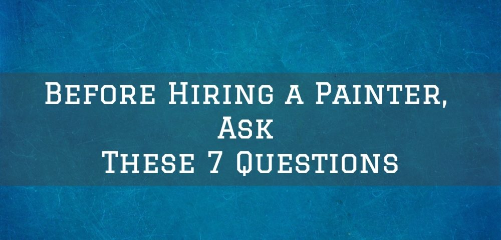 Hiring a painting contractor