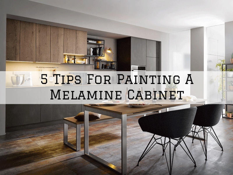 tips for painting a melamine cabinet